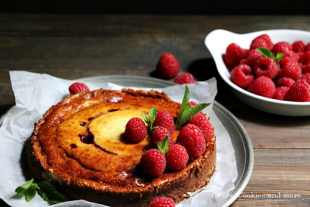 Rezept für zuckerfreien Cheesecake mit Himbeeren - Cakes, Cookies and more