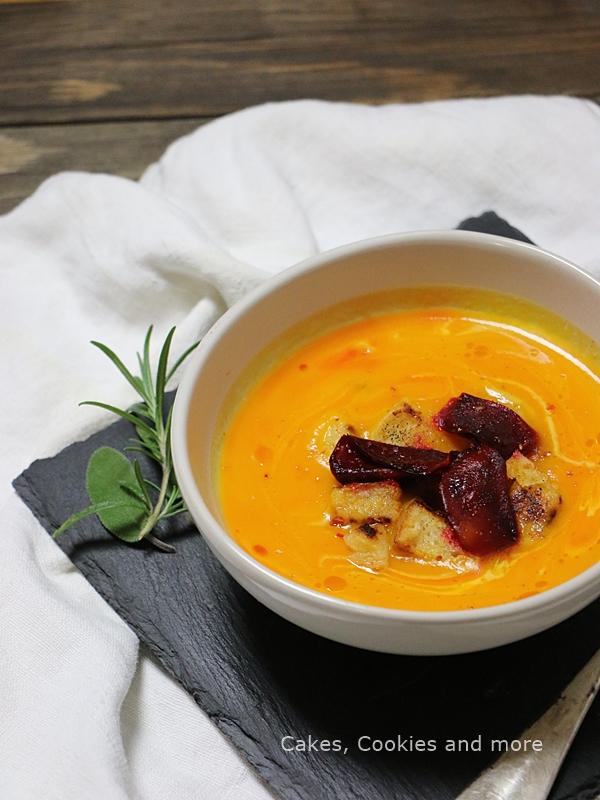 Kürbissuppe mit Chiliöl