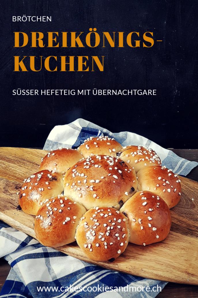 Rezept für Schweizer Dreikönigskuchen mit Vorteig und Übernachtgare - Süsser Hefeteig mit Schokoladenstücken vom Synchronbacken