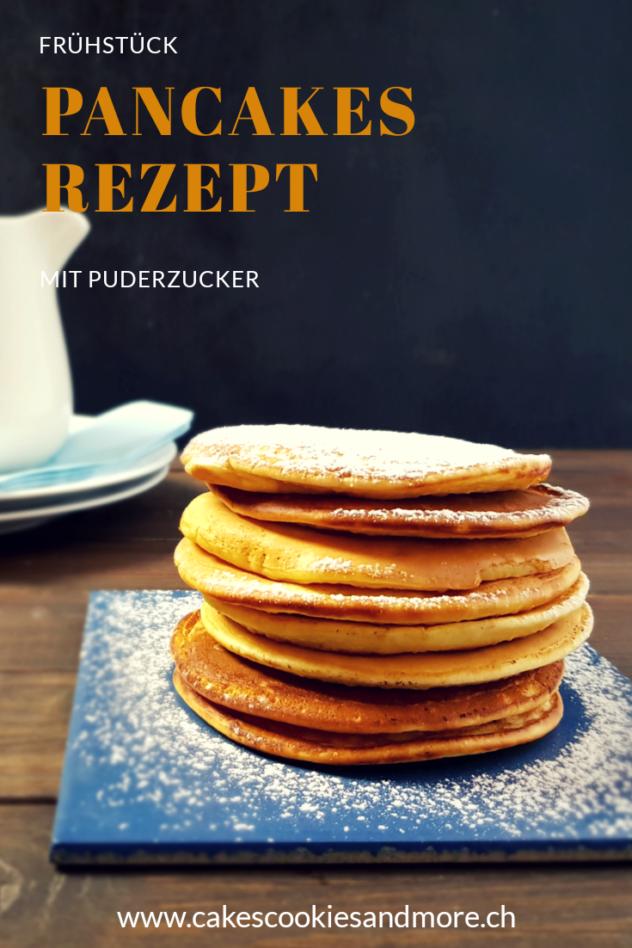Pancakes zum Frühstück. Rezept für luftige Pancakes.