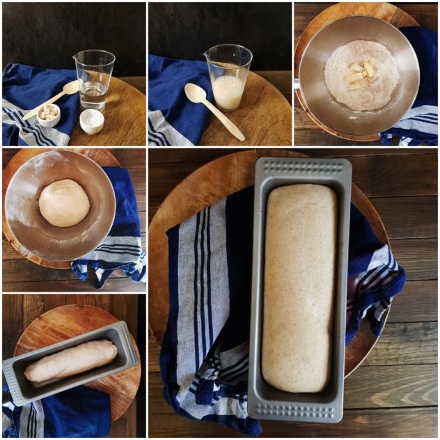 Buttertoastbrot mit Vollkornmehl - Hefeteig mit dem Salz-Hefe-Verfahren