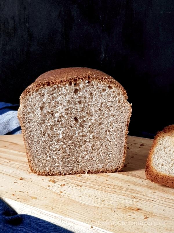 Buttertoastbrot mit Vollkornmehl - mit dem Salz-Hefe-Verfahren