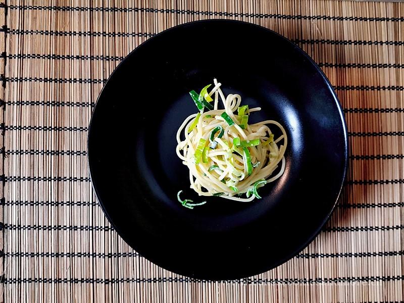 Lauchspaghetti