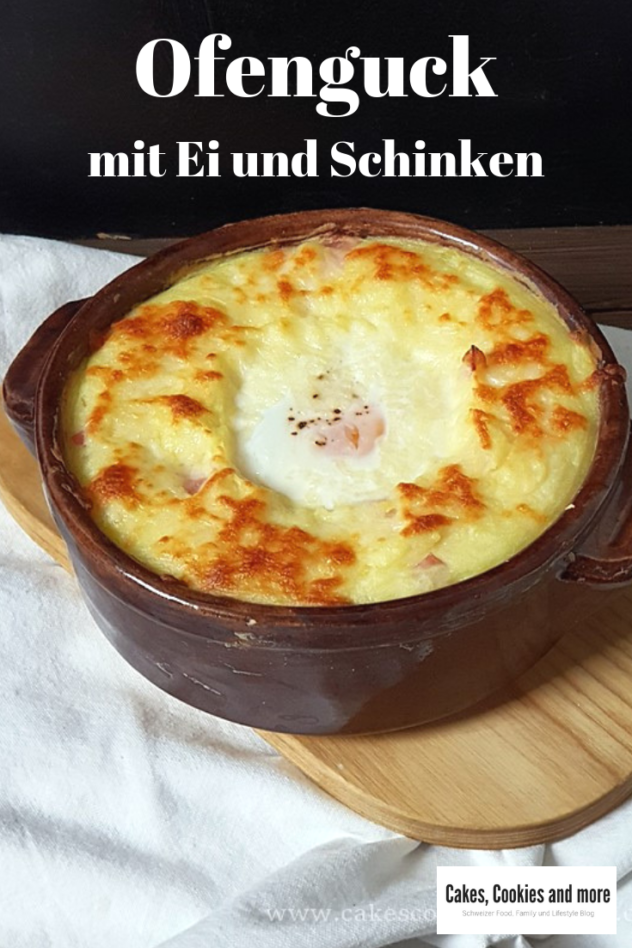 Rezept für Ofenguck - Kartoffelstock Gratin mit Schinken, Käse und Ei