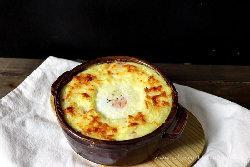 Ofenguck - Kartoffelstock Gratin mit Käse, Schinken und Ei