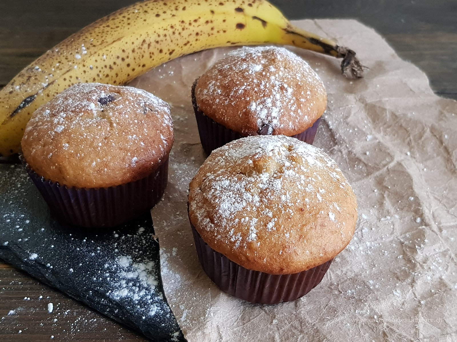 Bananenmuffins mit Schokolade