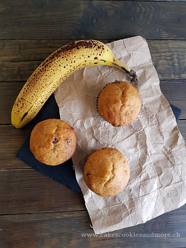 Lebensmittelrettung - Rezept für Muffins aus reifen Bananen.