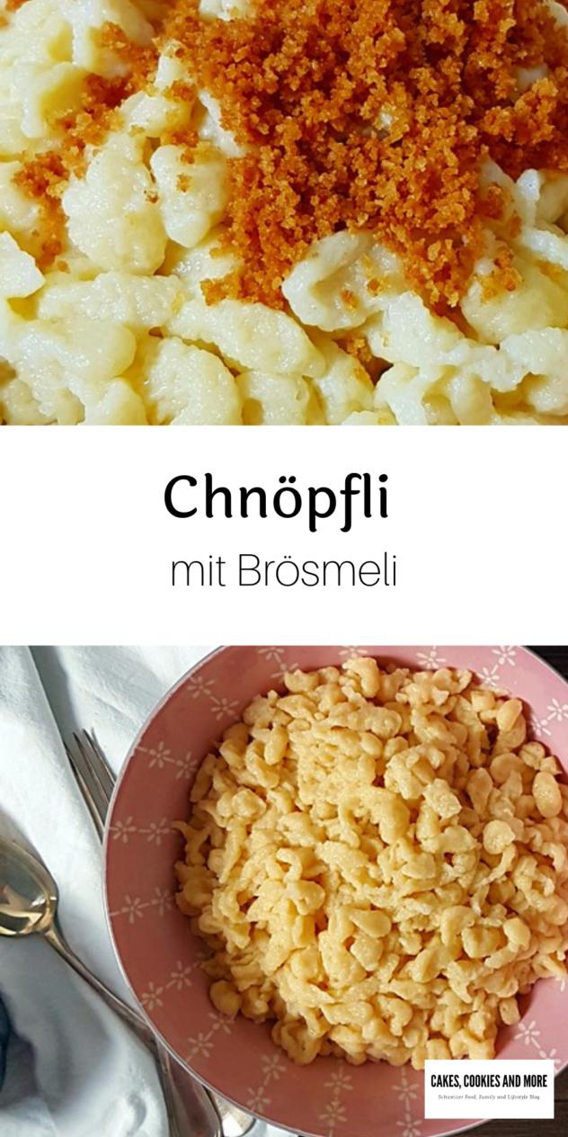 Grundrezept für Chnöpfli (Spätzli) mit Rahm und Mineralwasser