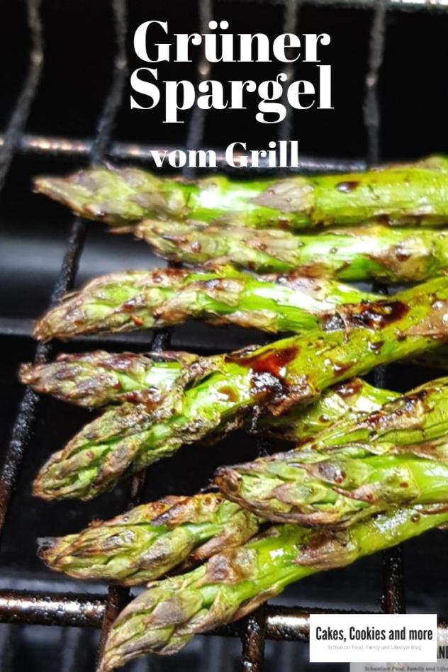 Grüner Spargel vom Grill mit Balsamico