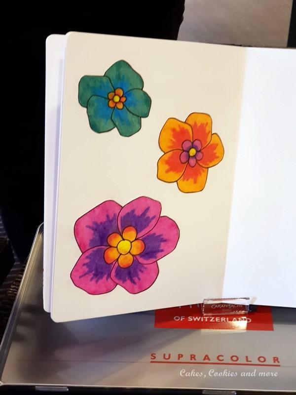 Neocolor Blumen