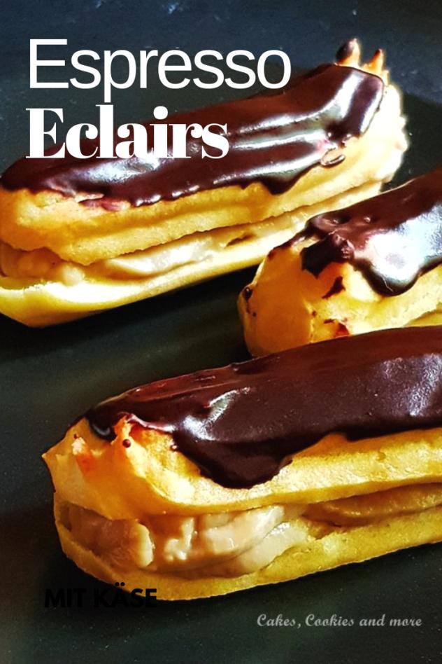 Rezept für Esspresso Eclairs - mit selbstgemachtem Pudding