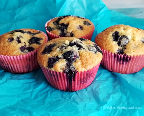Muffins mit Heidelbeeren