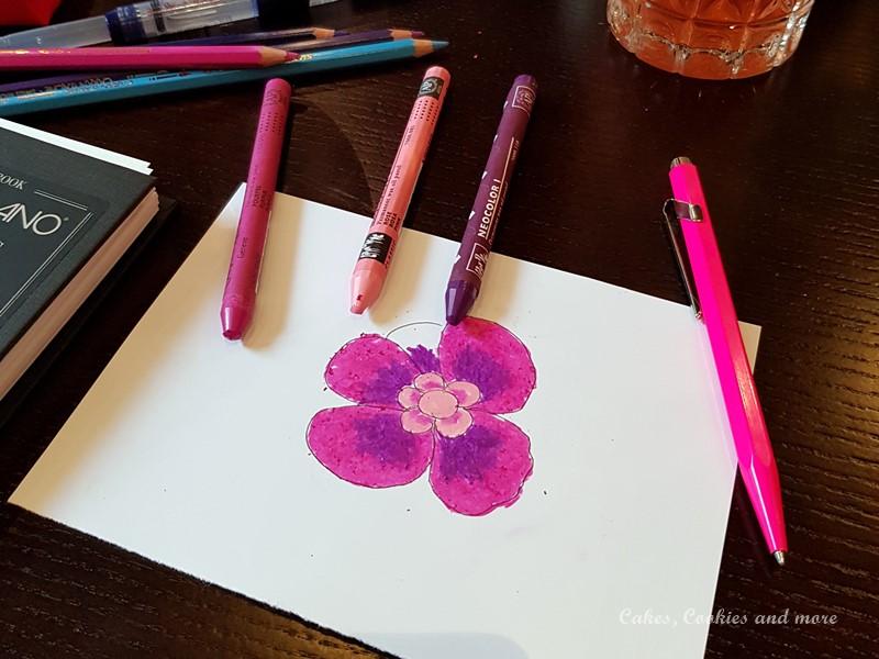 Blumen mit Neocolor