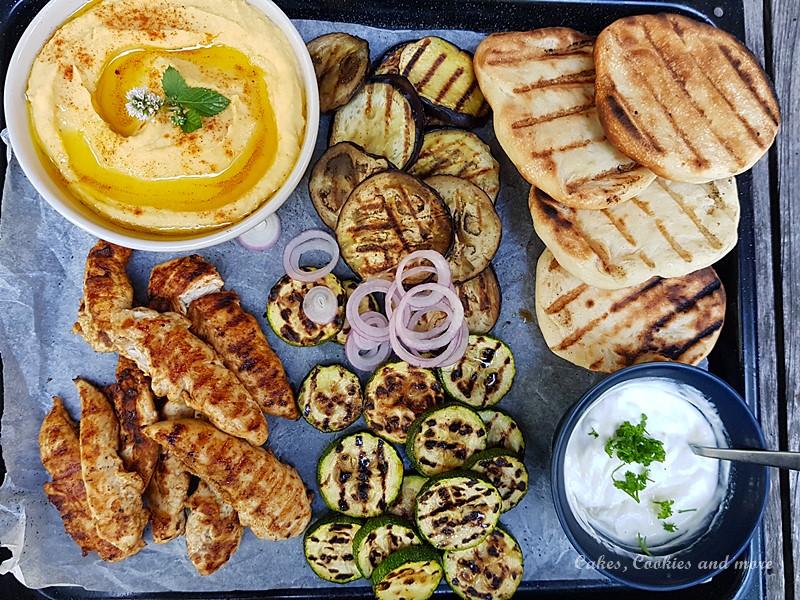 Pouletfilet und Gemüse vom Grill