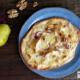Herbstlicher Flamkuchen mit Birnen und Raclettekäse