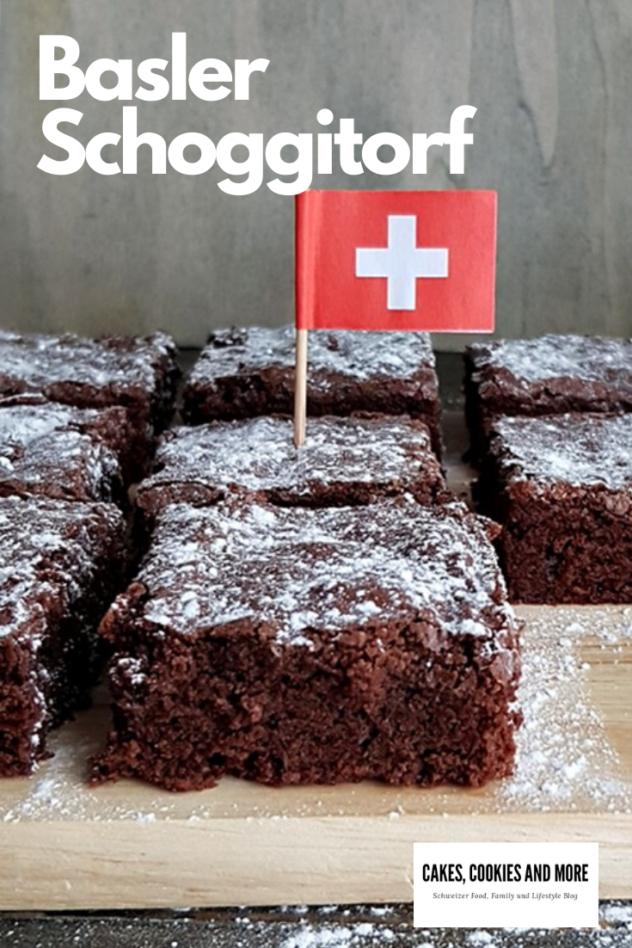 Schweizer Rezept für Basler Schoggitorf. Ein leckerer Schokoladenkuchen mit viel Schweizer Schokolade.   #schokolade #kuchen #backen #schweizerküche