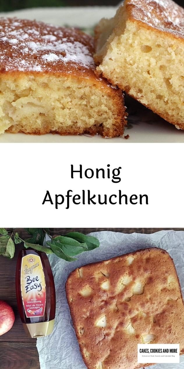 Rezept für Honig-Apfelkuchen. Der Rührkuchen mit Äpfeln und Honig ist schnell und einfach in der Zubereitung.