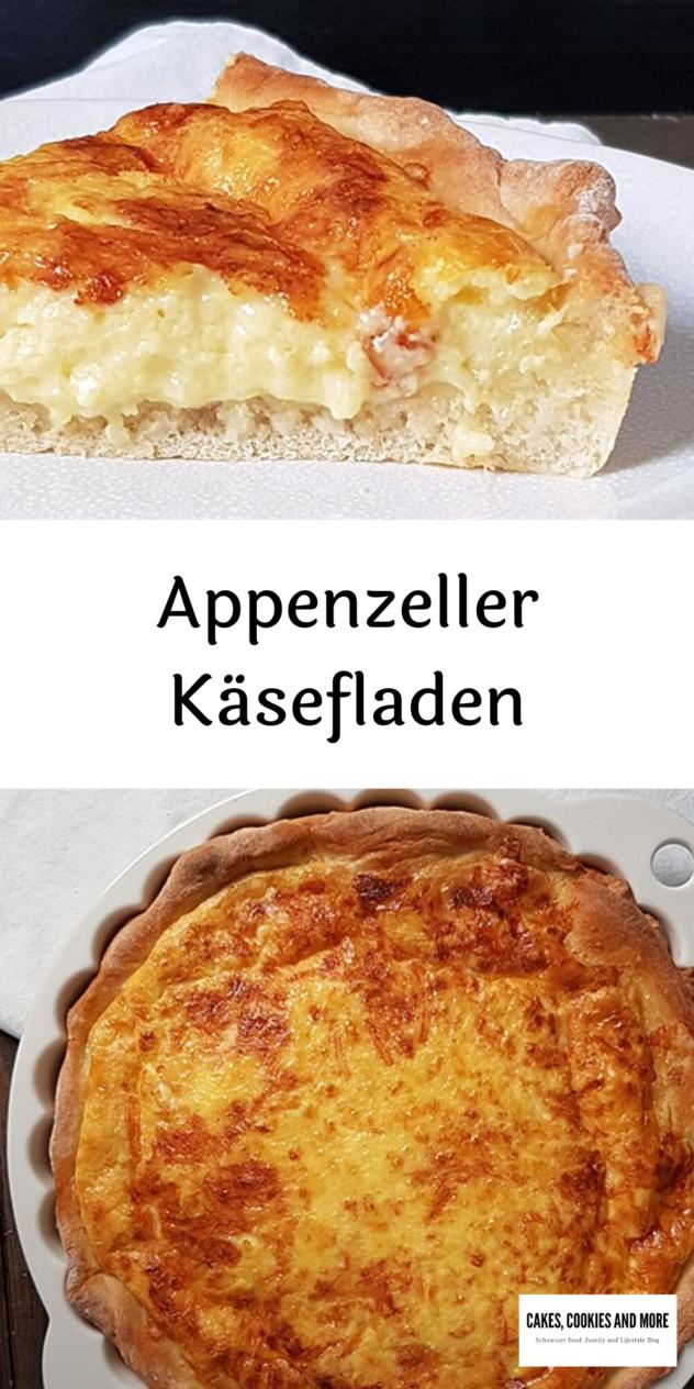 Rezept für Appenzeller Käsefladen. Käsewähe mit einem Boden aus selbstgemachtem Brotteig.  #käsefladen #käse #wähe #käsekuchen