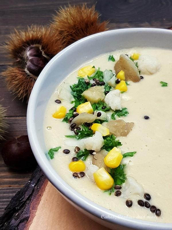 Rezept für Marronisuppe mit Blumenkohl und Mais