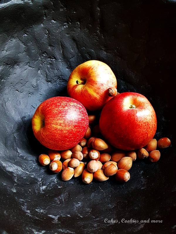 Äpfel und Haselnüsse