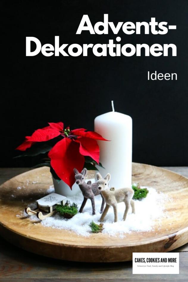 Ideen für Adventsdekorationen mit Weihnachtssternen