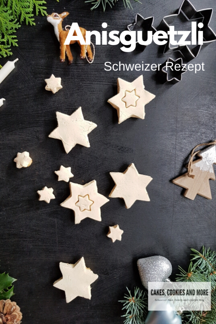 Schweizer Rezept für Anisguetzli - Chräbeli. Weihnachtsgebäck mit Anis