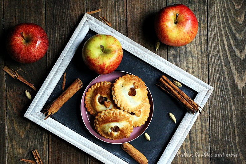 Mini Apfel Pies ohne Zucker aus dem Airfryer
