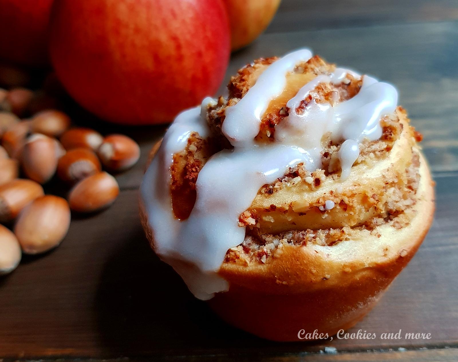 Rezept für Apfel-Nussschnecken