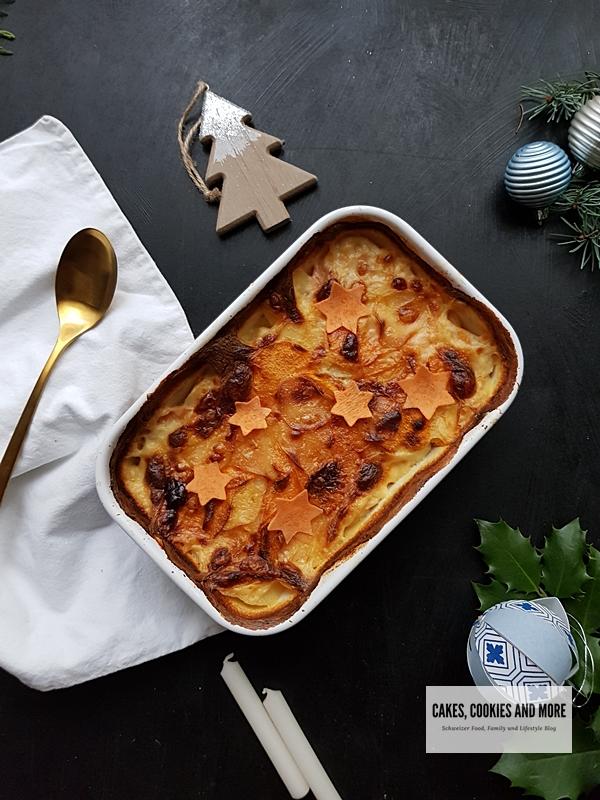 Rezept für Kartoffelgratin mit Süsskartoffeln