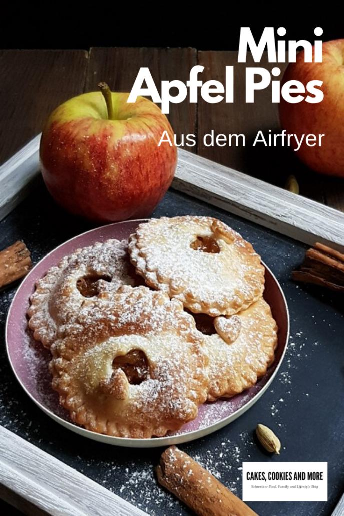 Mini Apfel Pies aus dem Airfyer ohne Zusatz von Zucker - zuckerfreie Appel Pies