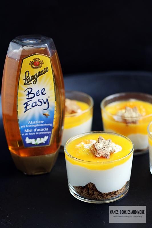Honig-Schichtdessert mit Lebkuchen