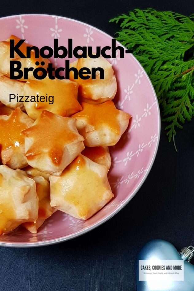 Knoblauchbrötchen aus Pizzateig
