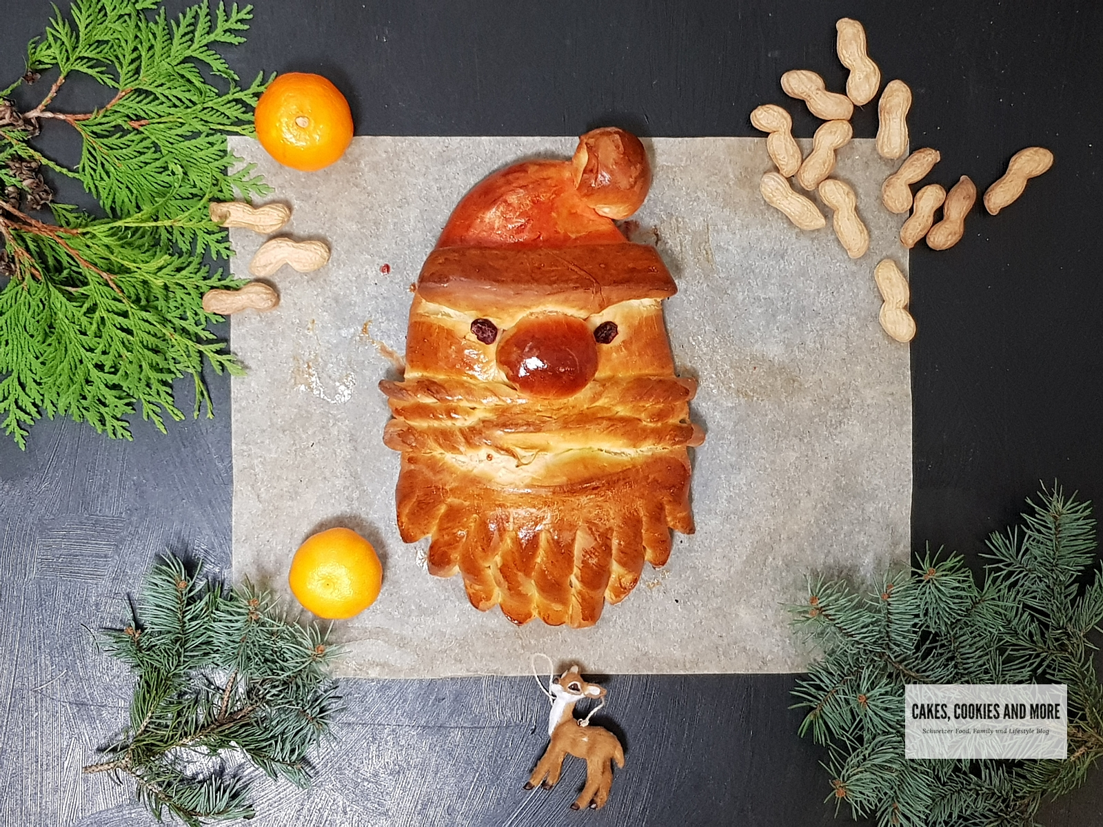 Samichlaus Brot aus Globis Winterbackbuch