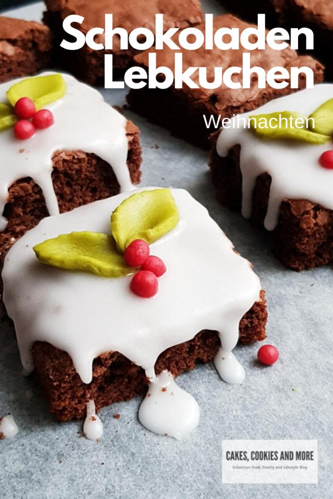 Rezept für weihnachtlichen Schokoladen Lebkuchen