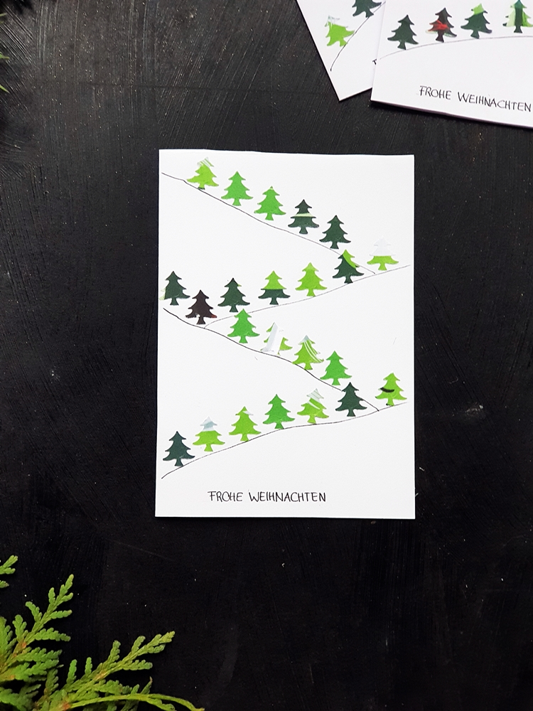 Weihnachtskarten Upcycling