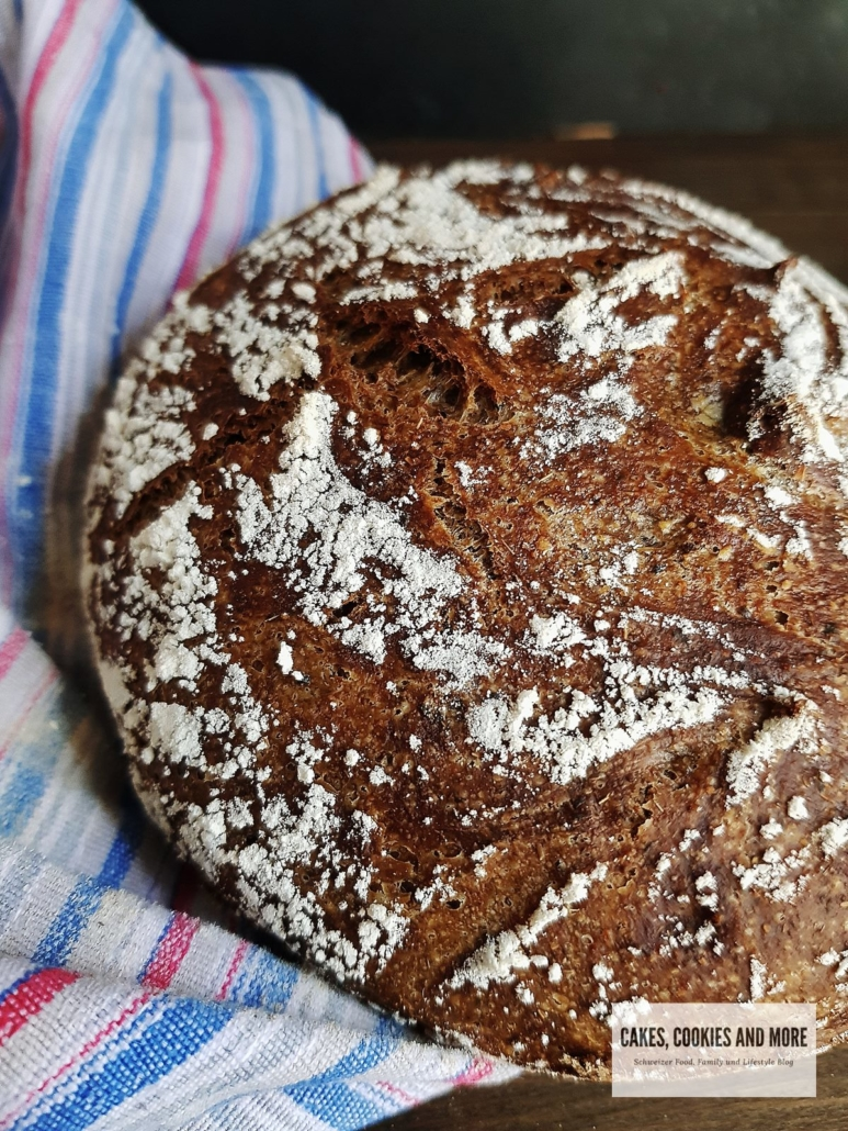 Lower Carb No Knead Brot mit Sonnenblumenmehl