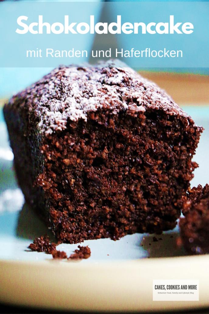 Schokoladencake mit Randen und Haferflocken