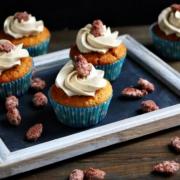 Cupcakes mit gebrannten Mandeln