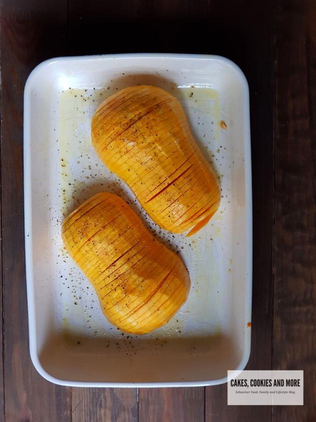 Haselback Kürbis - Butternut aus dem Backofen